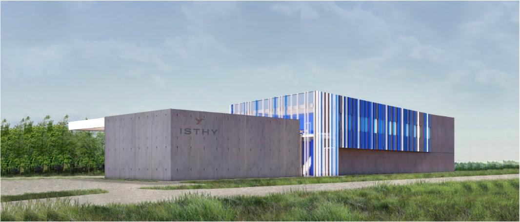 Perspective du centre d'essais et de certification des systèmes de stockage hydrogène Isthy à Fontaine.