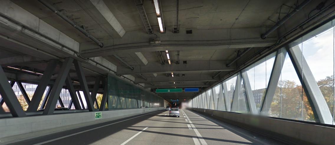 Pont des Trois-Roses, à Bâle (Google street view)