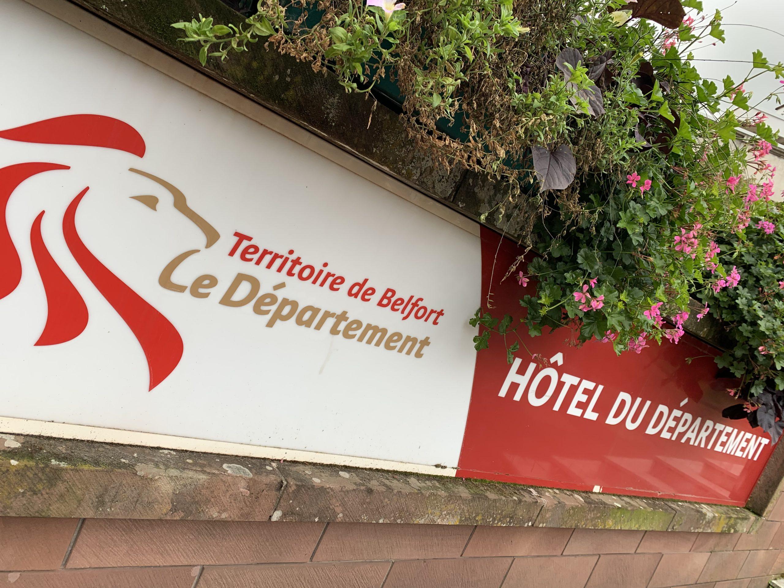 Hôtel du Département, du conseil départemental du Territoire de Belfort, à Belfort.