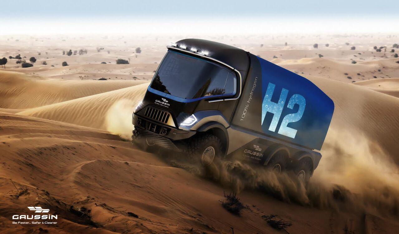 L'industriel Gaussin va engager sur le Dakar 2022 un camion 100% hydrogène.