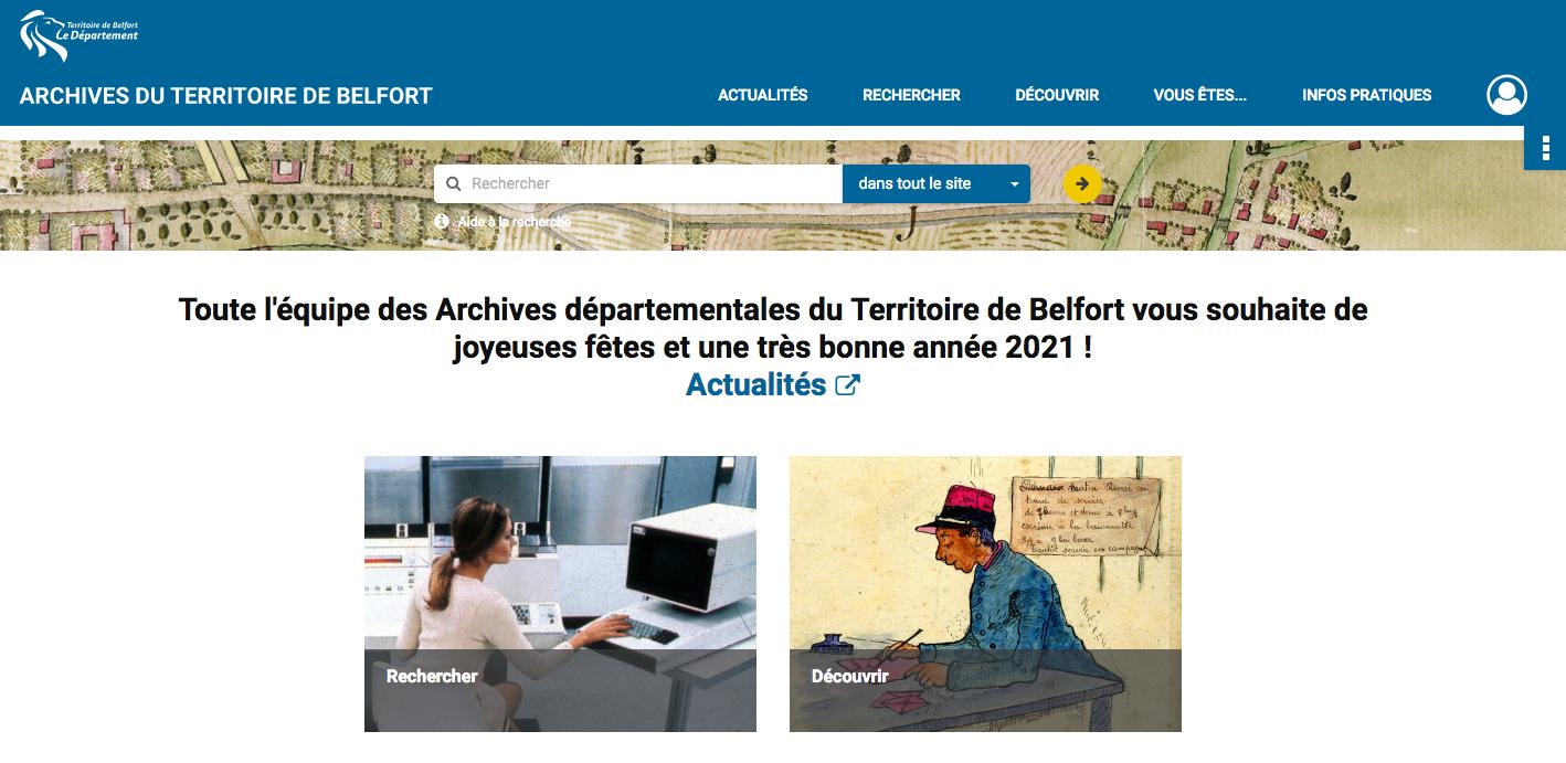 Les archives départementales du Territoire de Belfort ont mis en ligne un nouveau portail numérique.