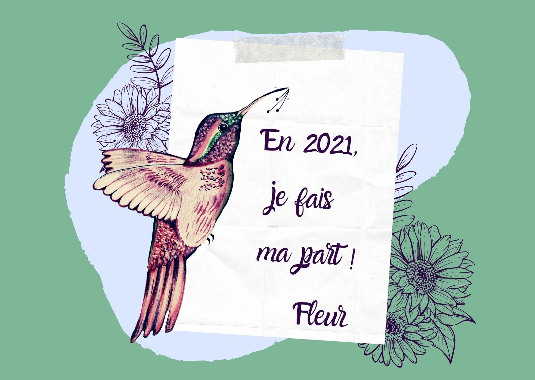 Carte message floral Fleur
