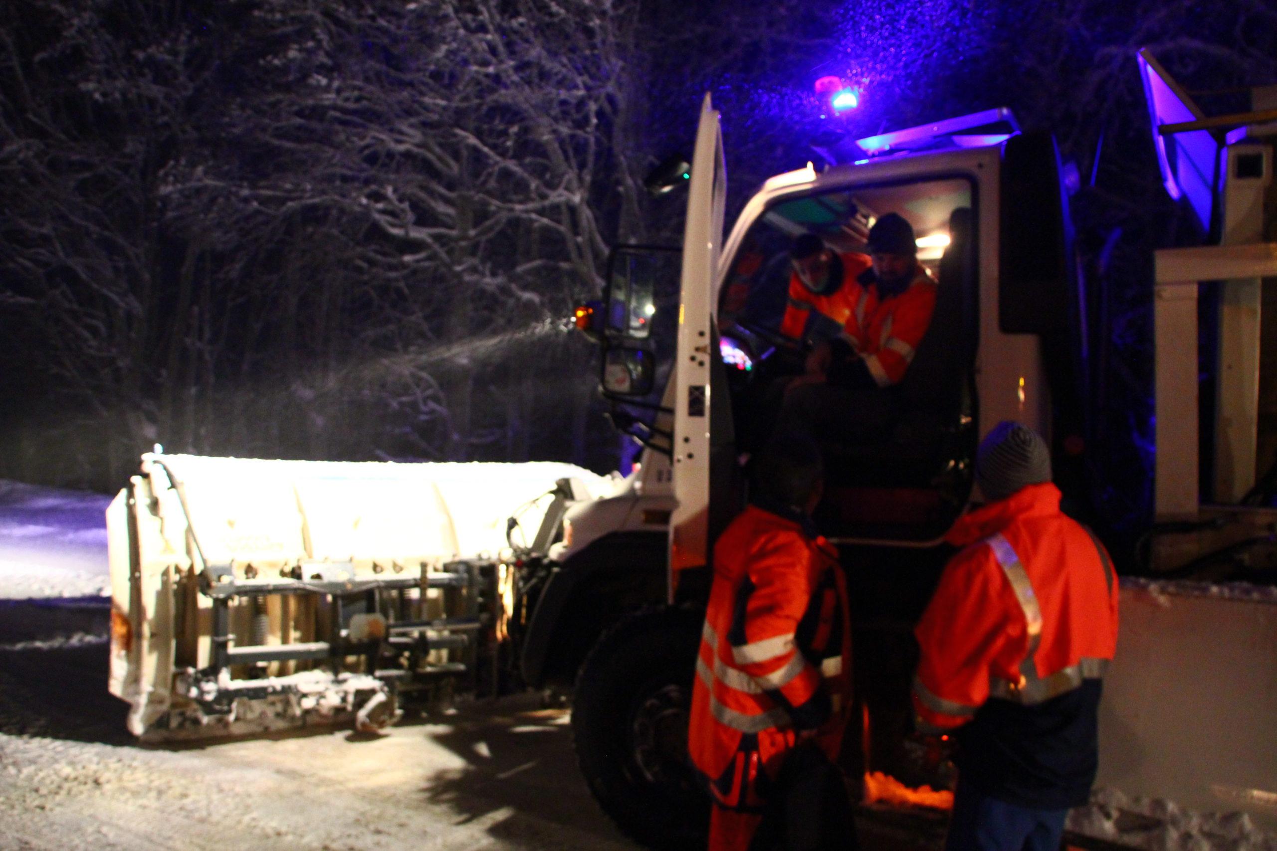 Condition de circulation difficile dans le Territoire de Belfort ce 14 janvier 2021.