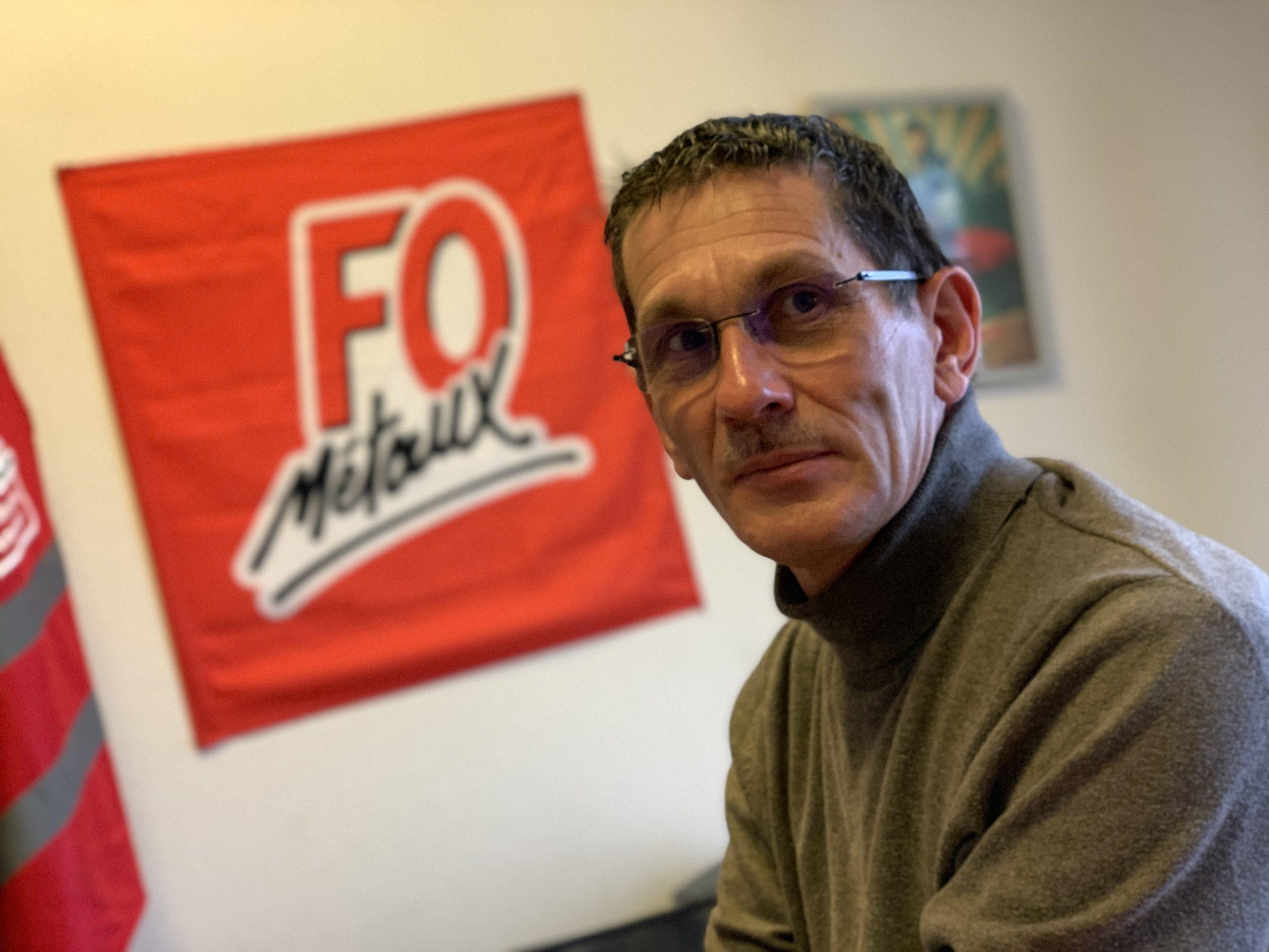 Éric Peultier, délégué syndical Force ouvrière à Stellantis Sochaux (ex PSA) et secrétaire de la section FO Métaux de Sochaux.
