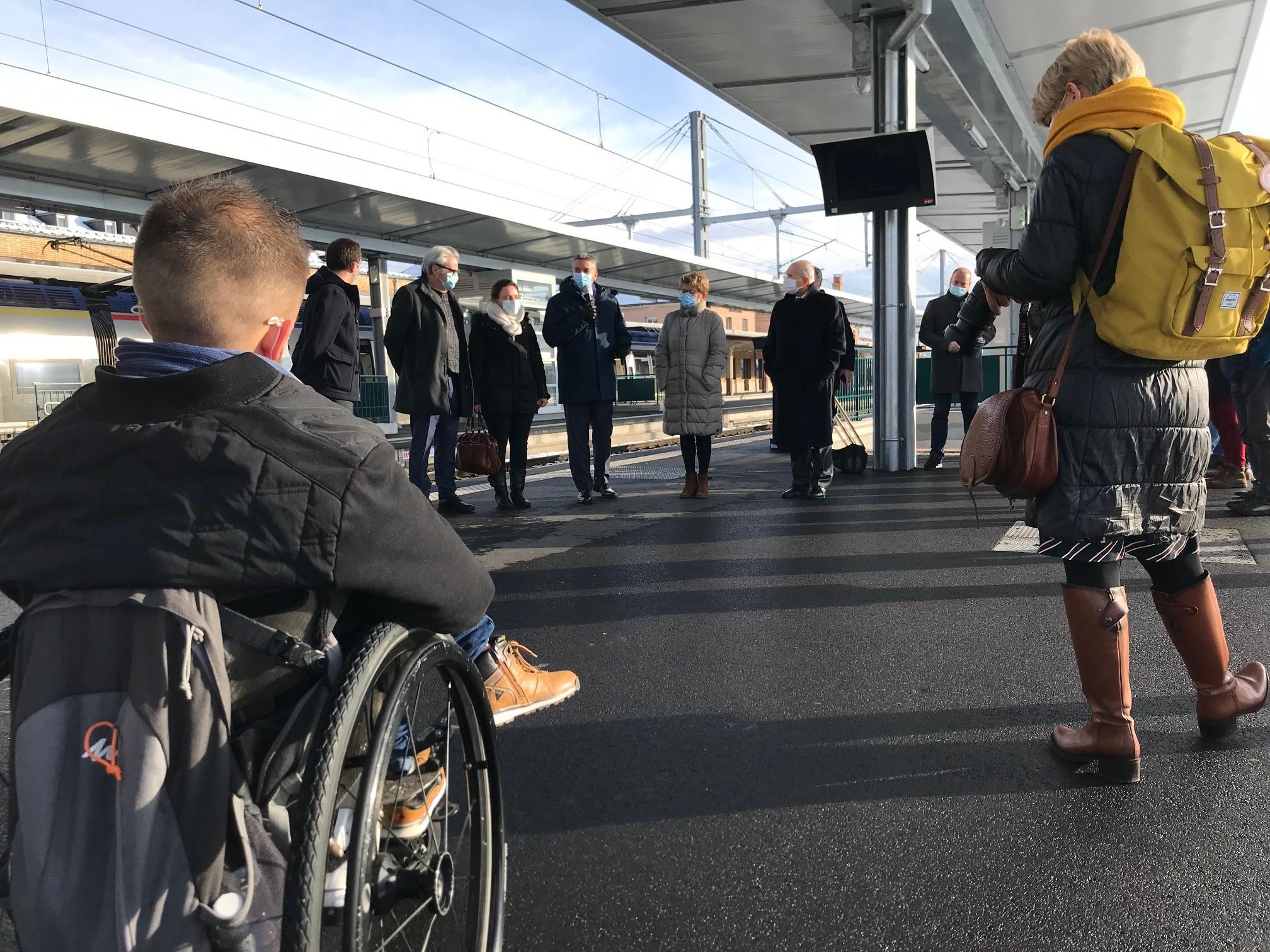 Des travaux ont été réalisés à la gare de Belfort afin de la rendre accessible à tous.