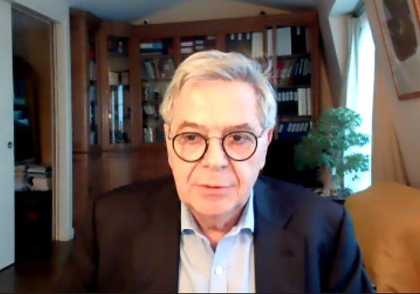 Guy Maugis, qui préside le comité de présélection, lors d'un point presse en visio-conférence de jeudi.