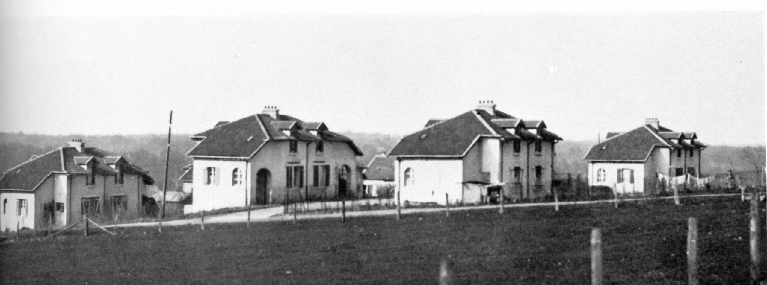 Vue générale de la cité Japy, à Beaucourt, l'un des premiers programmes engagés par Territoire Habitat dans les années 1920.