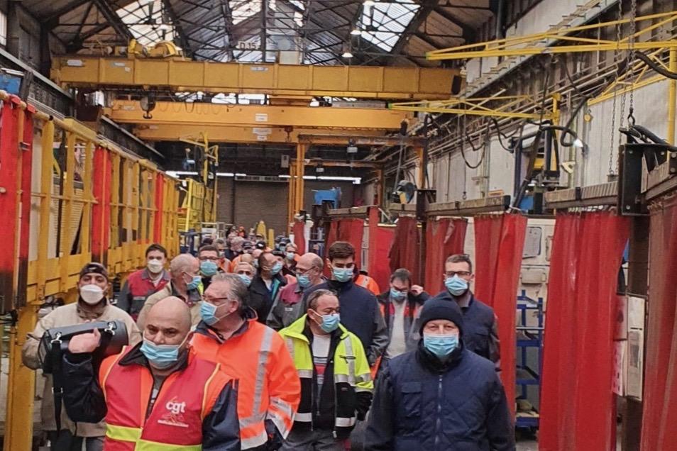 Alstom débrayage 9 février (DR)