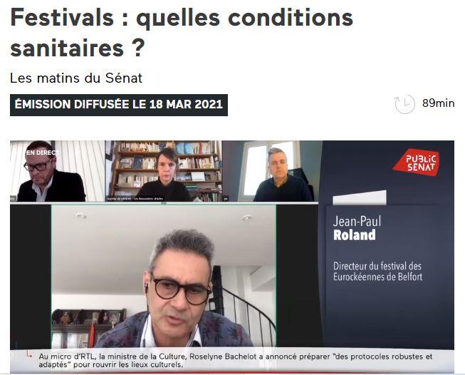 Jean-Paul Roland pendant son audition par les sénateurs, retransmis sur le site de Public Sénat. (copie d'écran)