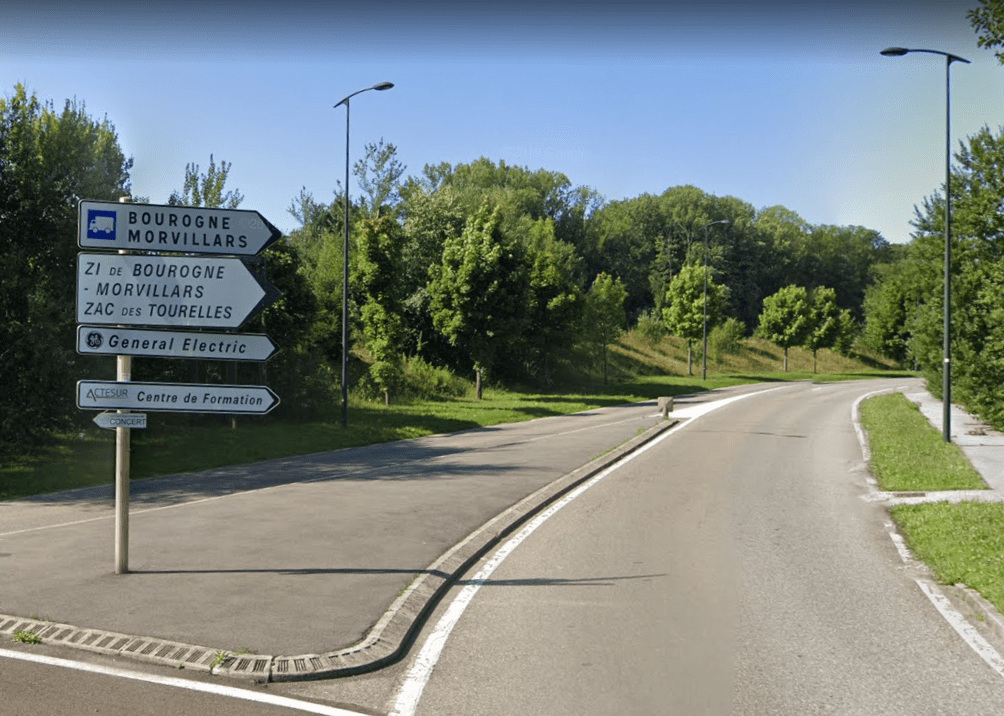 Zone activités Tourelles Morvillars (google street view)