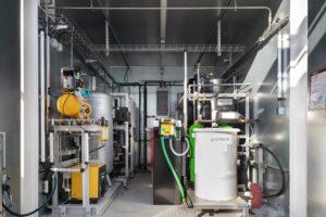 La plateforme de test d'électrolyseurs – EDF Lab les Renardières – novembre 2020.
