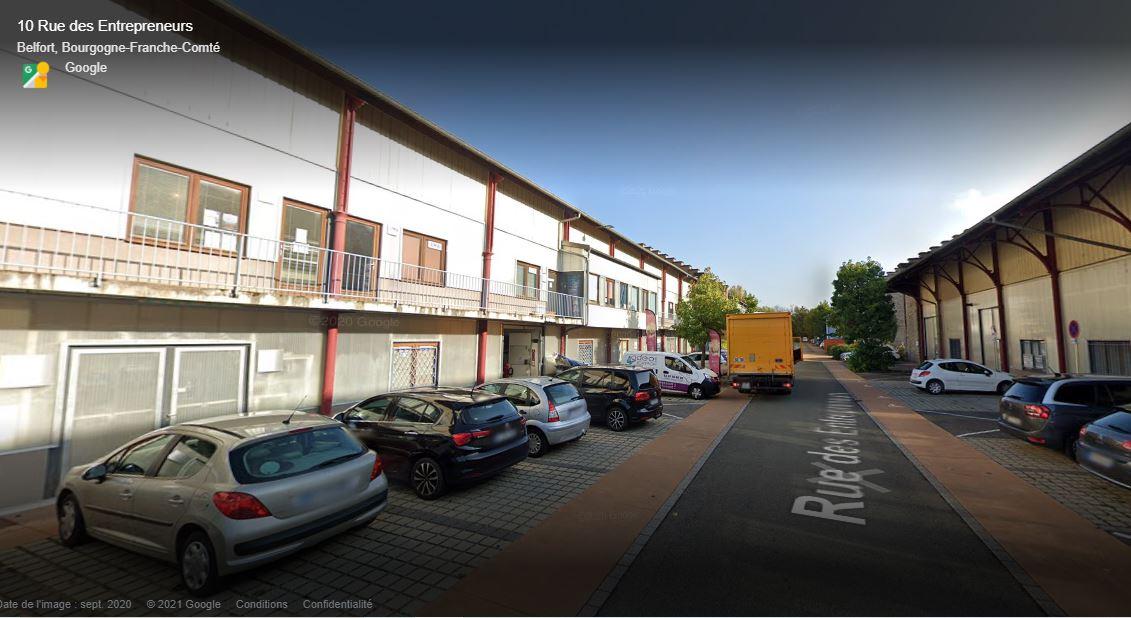 MS Innov est actuellement installé rue des Entrepreneurs, à Belfort. (copie d'écran Google Street View).
