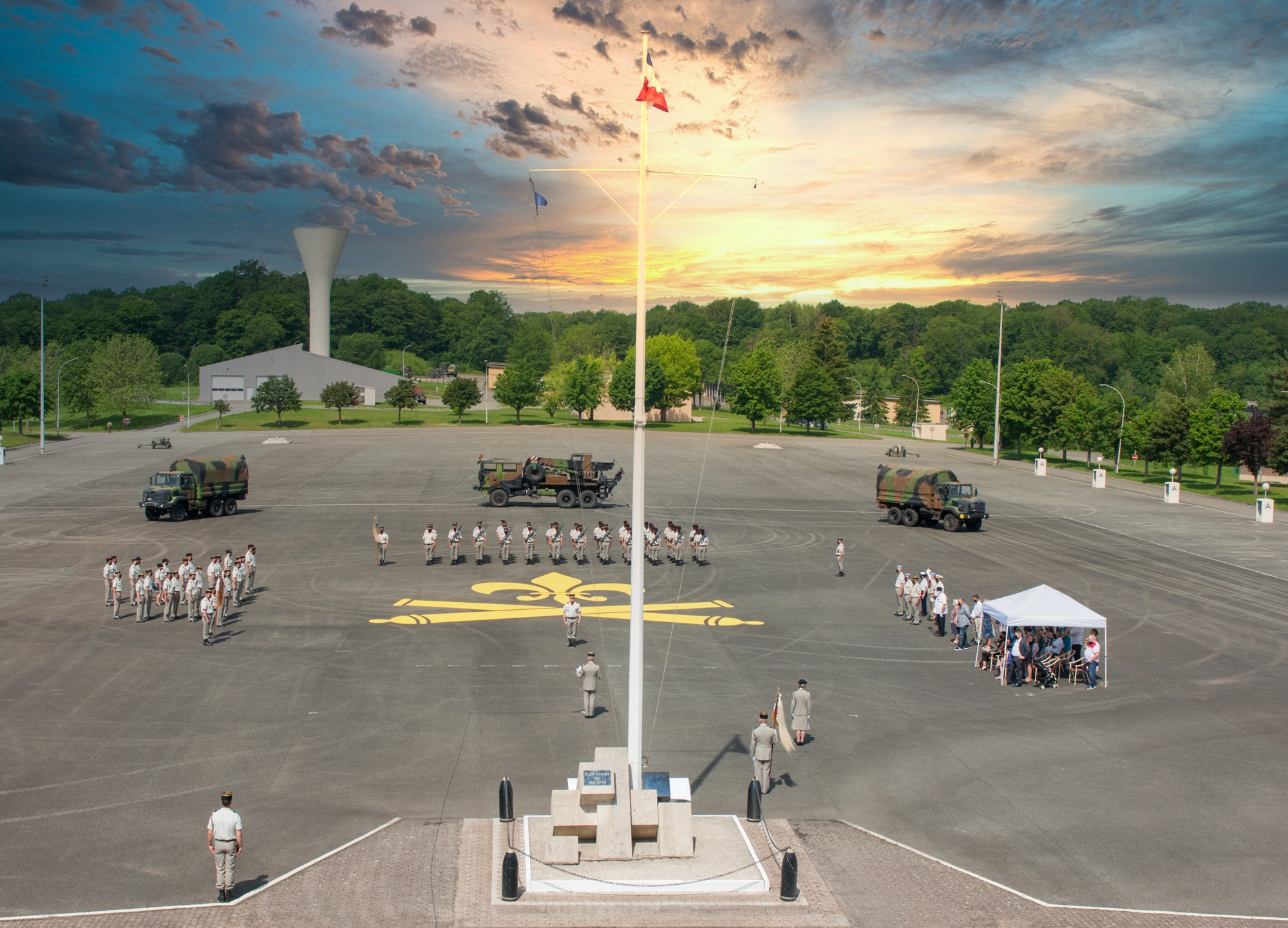 Place d'arme, 1er régiment d'artillerie, Bourogne (1RA)