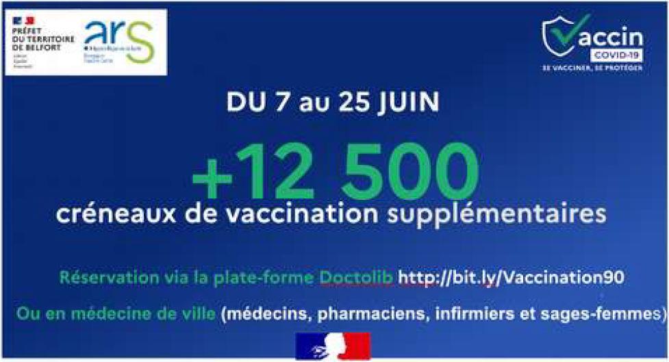 Nouvelles vaccination Belfort juin 2021