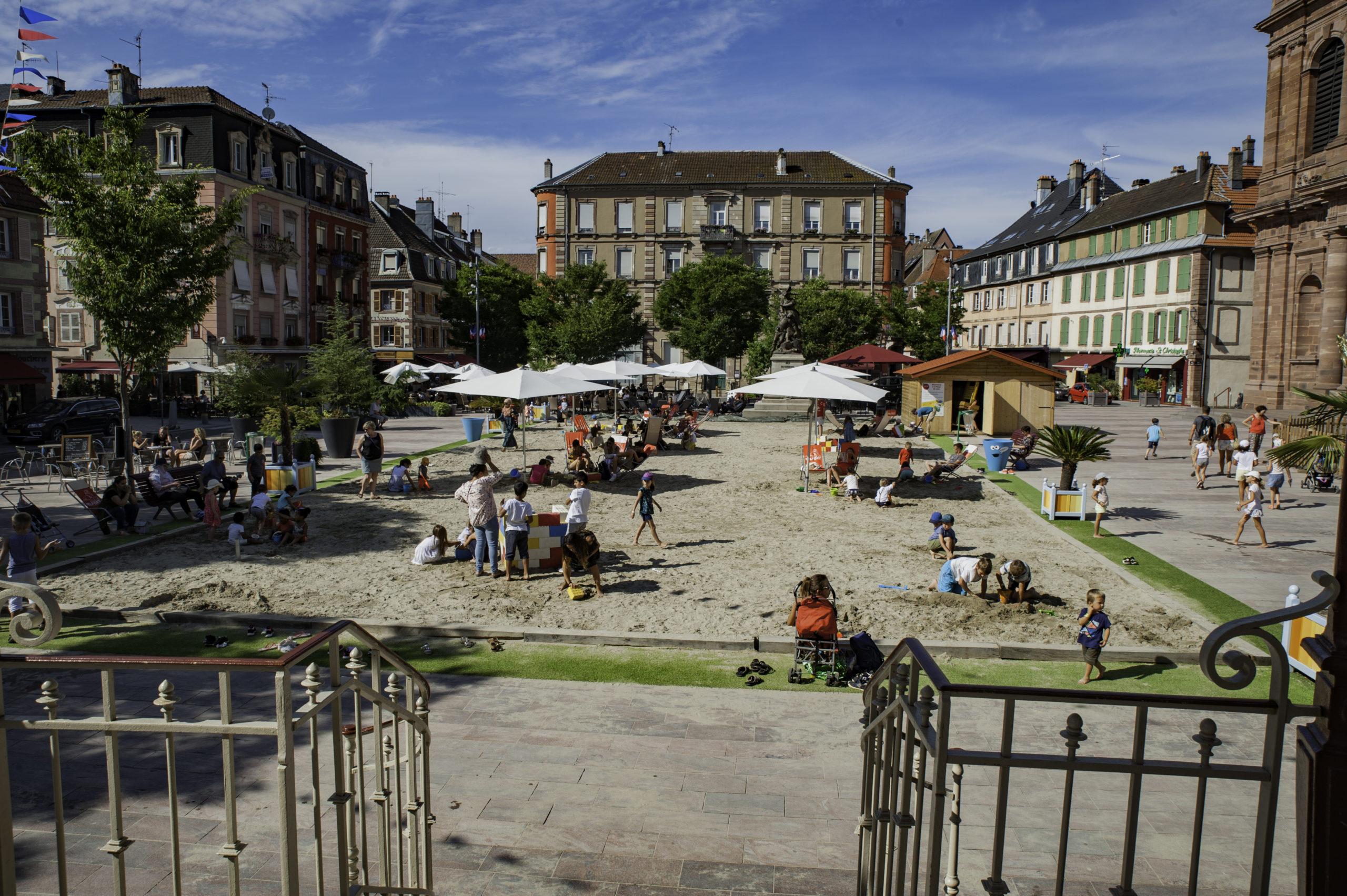 Plage Place d'Armes festiv'été, Mairie de Belfort