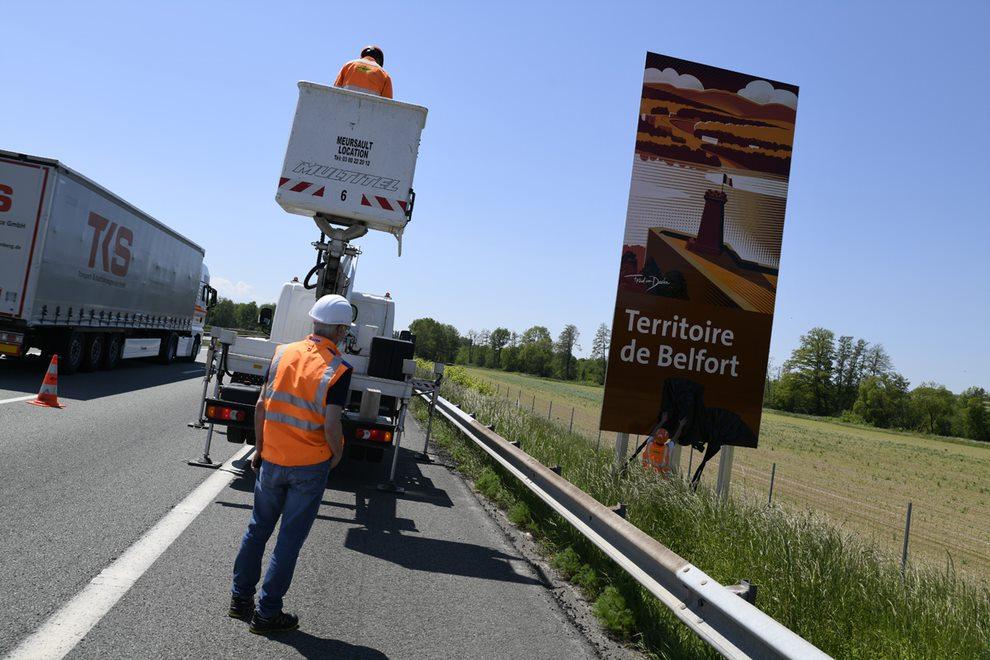 Panneaux Belfort Tourisme A36 (CD90)
