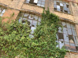 Le site des Fonteneille à Beaucourt. Ce bâtiment, dit en Fer à cheval, est l'ancienne Japy Factory et fait l'objet d'une réhabilitation.