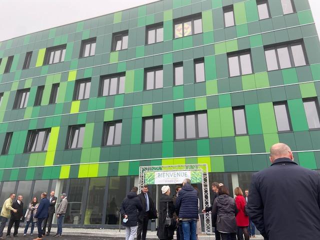 """Le nouveau bâtiment pour les entreprises tertiaires, le """"Nickel"""" a été inauguré lundi à La JonXion."""