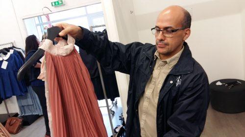 Abdelhadi Chaïb, d'Inser-vêt, coordonne la démarche d'upcycling.